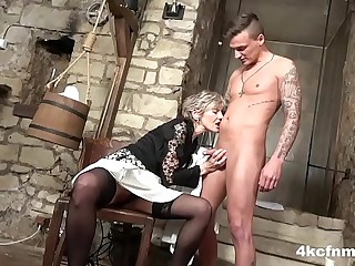 Granny is the Dungeon Tormentor of Blowjobs