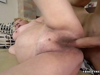 Wild blonde granny likes to fuck hard