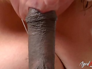 AgedLovE Hardcore Big black cock in Tight Mature Blonde