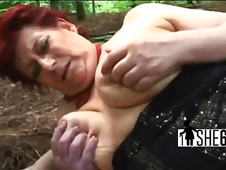Naughty hottie taking care of stiff cock