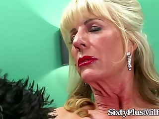 Mature Blonde Tramp Fucked by a Stud
