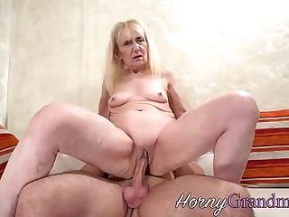 Cock riding granny sucks