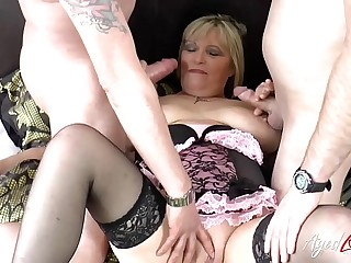 AgedLovE Alisha Rydes Hardcore Threesome Action