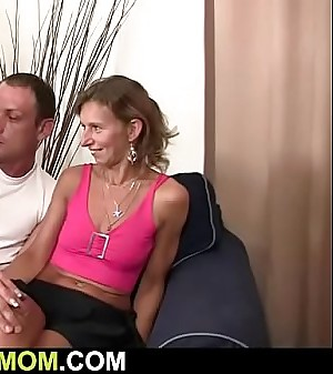 Wife witnesses her old mother rides husband'_s cock