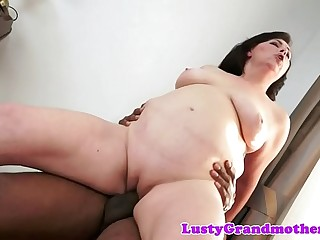 Busty gilf pussylicked and fucked by bbc
