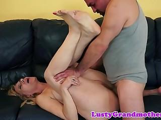 Saggytits grandma plowed deeply in her ass