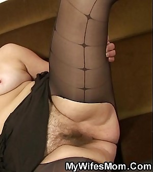 Old blonde motherinlaw rails his cheating cock