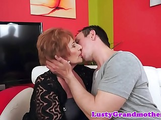 Buxomy grandma loves getting pounded