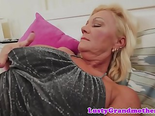 Inked grandma teases before getting fucked