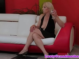 Hairy grandma pussyfucked by hard cock