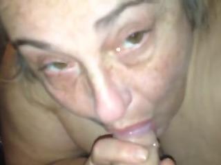 Grandma taking care of miniature pecker