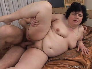 Aged big beautiful chick is screwed by a slutty boy that leaves her exhausted