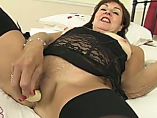 This perverted older lady at no time receives weakened of using her sex toys