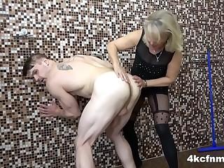 CFNM Grandma starts The Monster Cock Challenge