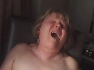 Close up orgasm face
