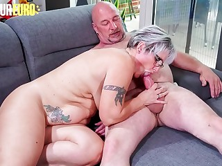 Unexperienced EURO  Horny German Granny Brigitte T. Fucks With Plumber