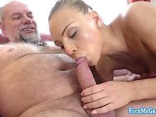 plumpy sexy blonde rocks on cock