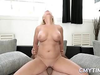 Horny granny likes to fuck hard with a big shaft