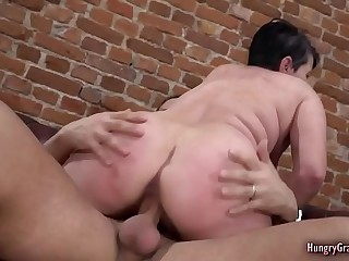 Busty granny loves to fuck with a big cock