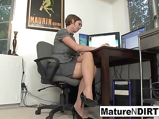 Busty MILF accountant fucks her favorite client