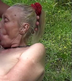lush 85 years old granny first time outdoor sex