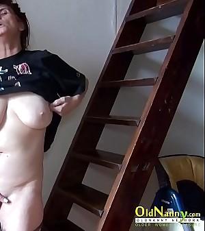 OldNannY Solo Mature Lady Fingering Masturbation