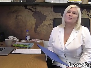 Doctor Lacey Starr treats her patient with strapon fuck