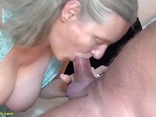 very first time rough sex for 92 years old granny