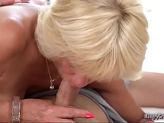 Sexy granny enjoys fucking hard with a big cock