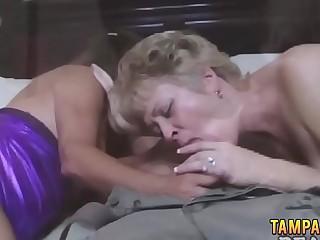 Busty grannies love sharing a hard cock