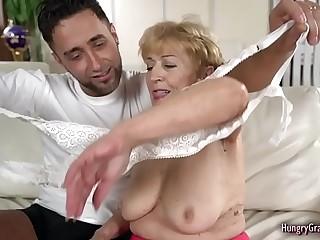 Horny Granny Enjoys With a Big Hard Cock