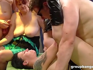 Granny gangbang with much younger horny sister