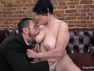 Granny With Fat Tits Loves Stiff Cock