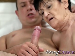 Granny gets rimmed and fucked