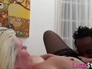 Cunt ate brit granny sucks black cock