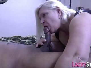 Pussy toying british granny rides black dick